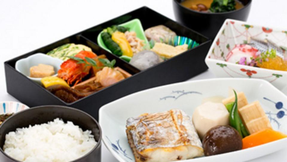 Speisen im Flugzeug