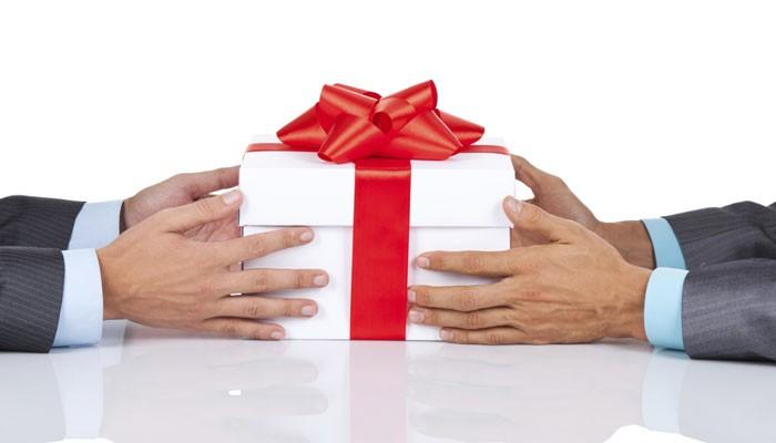 Geschäftsmänner Geschenk