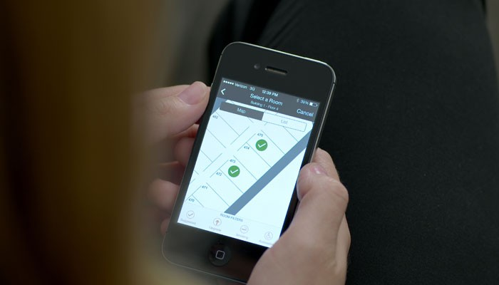 Smartphone-Screen mit HHonors-App