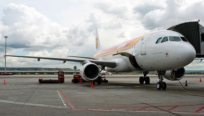 A320 der Iberia auf der Rollbahn