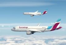 Zwei Maschinen der Eurowings in der Luft