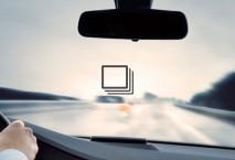 Blick aus dem Cockpit auf die Autobahn