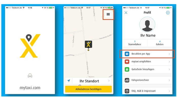 app kooperation von mytaxi und concur erleichtert abrechnung von taxiquittungen business traveller. Black Bedroom Furniture Sets. Home Design Ideas
