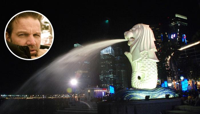Singapur Skyline und Porträt Kai Böcking