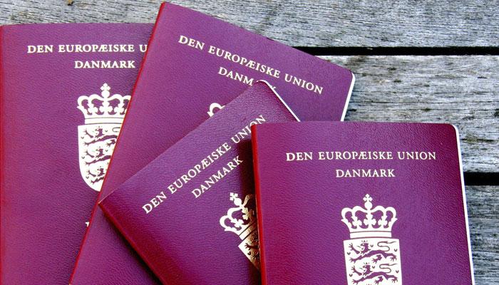 Dänische Reisepässe