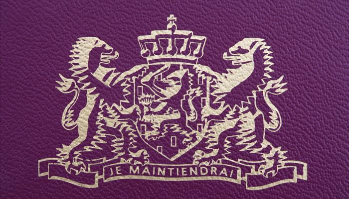 Wappen niederländischer Reisepass