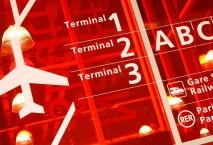 Schild am Flughafen Paris Charles de Gaulle