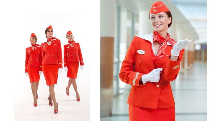 Flugbegleiterinnen der Aeroflot