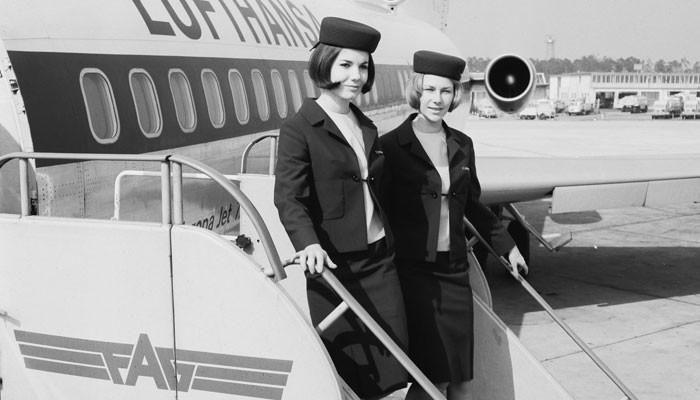 Flugbegleiterinnen der Lufthansa