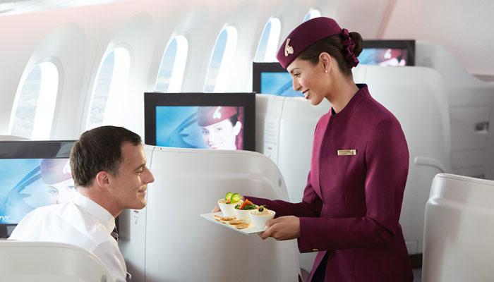 Flugbegleiterin Qatar Airways