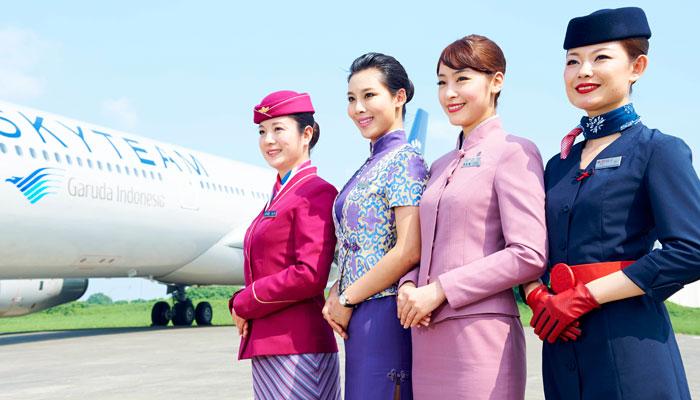 Flugbegleiterinnen Skyteam China