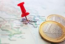 Karte Griechenland Euro-Münzen