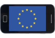 Handy mit europäischer Flagge