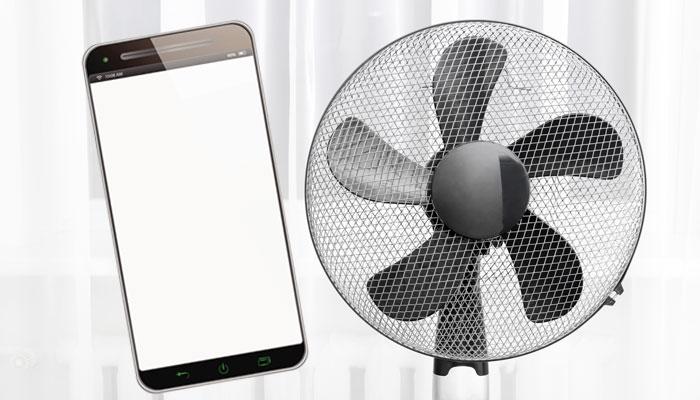 Smartphone und Ventilator