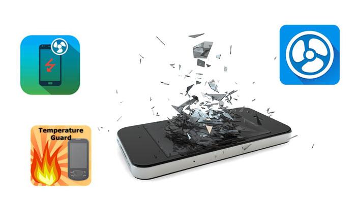 Smartphone mit zerschellendem Display