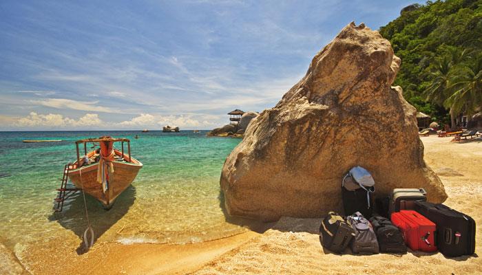 Gepäck auf Südseeinsel