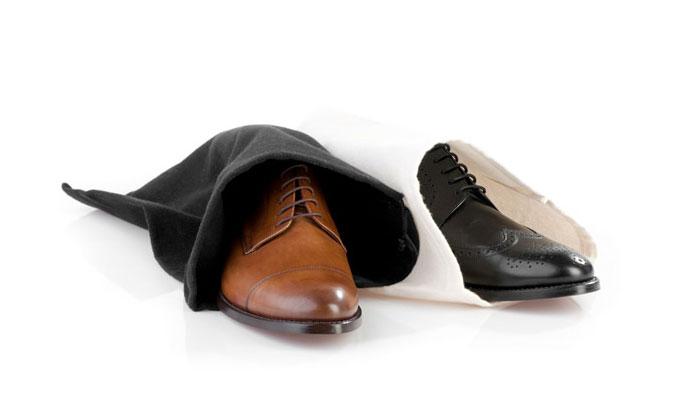 Schuhe im Schuhsack