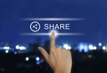Share-Button mit Finger