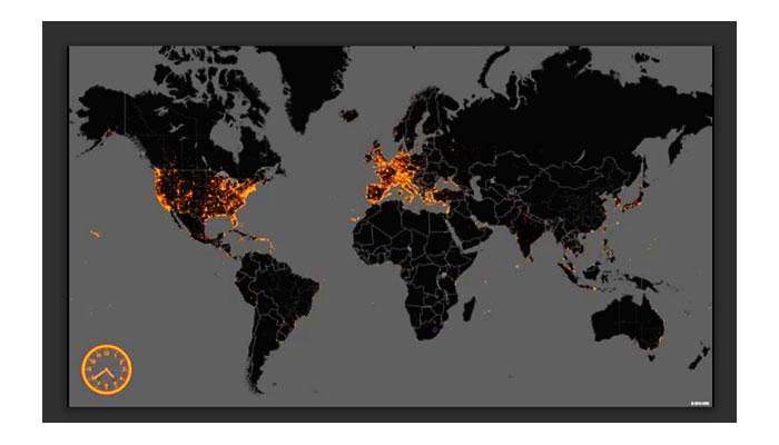 Karte beliebte Hotelziele