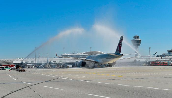 A350 XWB bei der Landung in München