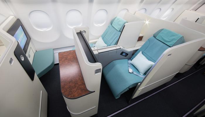 Business Class in der Boeing 747-8i der Korean Air