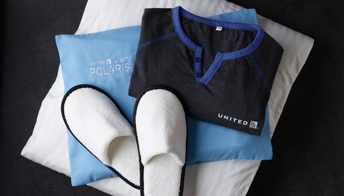 United Airlines Polaris Business Class Airline-Pyjama