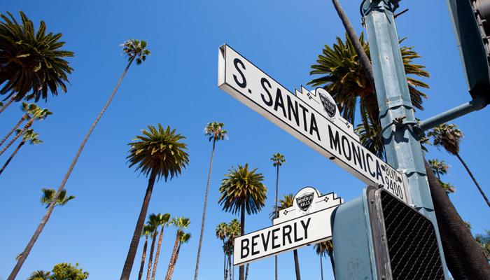 Straßenschilder Los Angeles