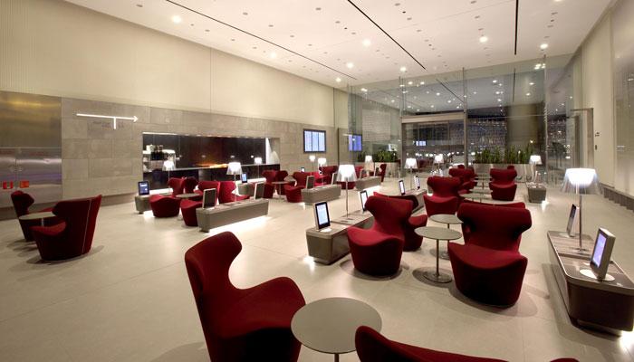 Ausprobiert qatar airways al mourjan business lounge hamad international airport doha - Moderne lounges fotos ...