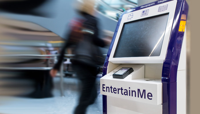 EntertainMe Schalter am Flughafen Heathrow