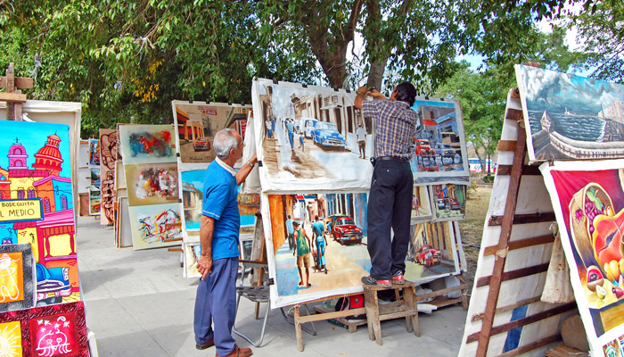 Kunstmarkt für Touristen