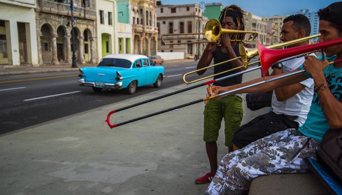 Musiker auf den Straßen von Havanna