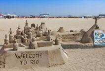 Sandburgen an der Copacabana