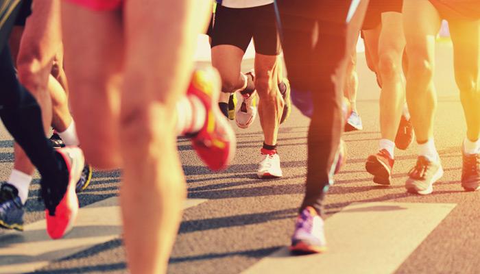 Marathonläufer im Sambódromo. Foto: iStock