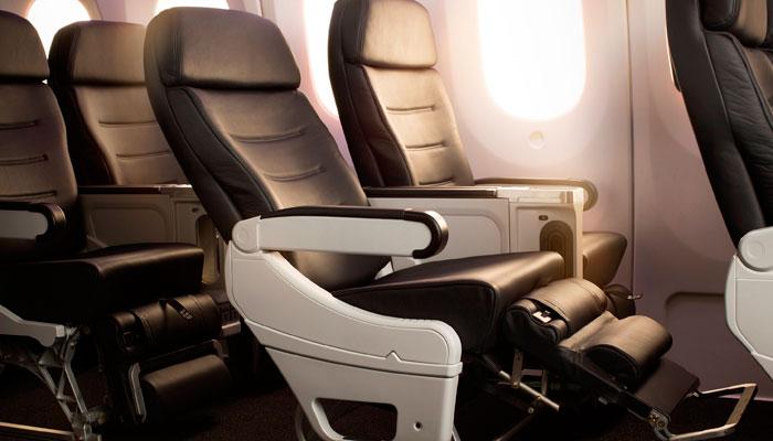 Premium-Economy-Sitz im Dreamliner Air New Zealand