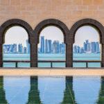 Blick auf die Skyline von Doha