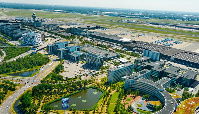 Luftaufnahme Flughafen Amsterdam Schiphol