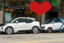 Car2Go und Drive Now Fahrzeug