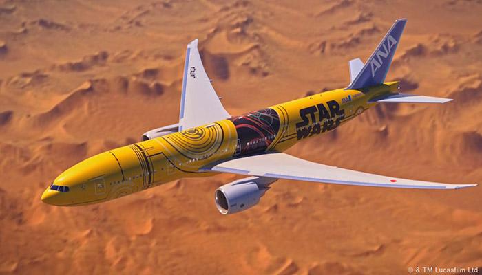 ANA-Boeing 777-200 im Star-Wars-Look