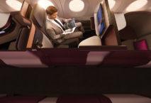 Die neue Q-Suite von Qatar Airways. Foto: Qatar Airways