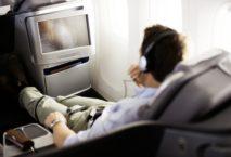 Unterhaltungsangebot an Bord der Lufthansa. Foto: FRALMD