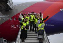 Asiana begrüßt den ersten Airbus A380 in Frankfurt. Foto: Asiana Airlines