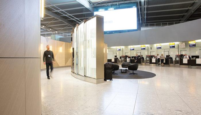 """""""First Wing"""" im Terminal fünf in London-Heathrow. Foto: Nick Morrish/British Airways"""