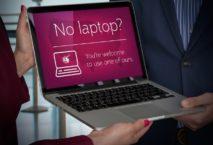Qatar Airways verleiht Laptops. (Foto: Qatar Airways)