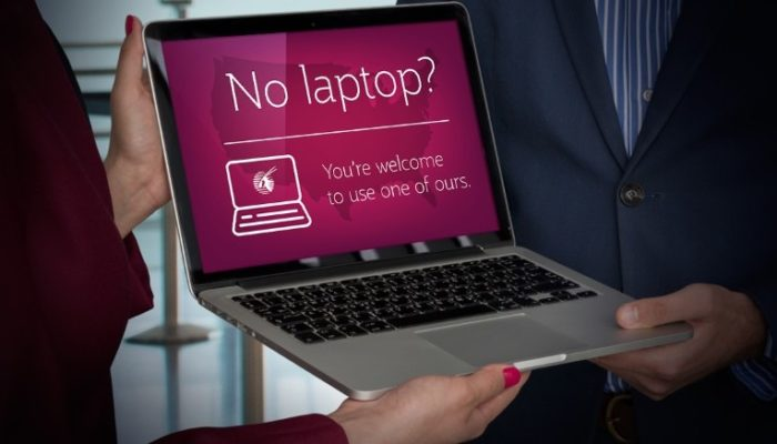 Qatar Airways verleiht Laptops. (Foto: Qatar Airways)