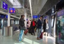"""Die neue """"Sky Line""""-Station am Frankfurter Flughafen. Foto: Fraport"""