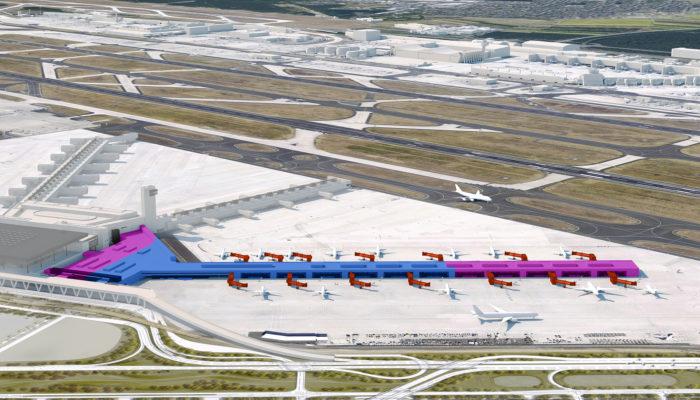 So soll der Flugsteig für Lowcost-Carrier am Frankfurt Flughafen aussehen. Foto: Fraport AG