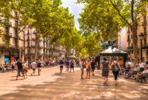 Die Flaniermeile Las Ramblas in Barcelona. Foto: iStock