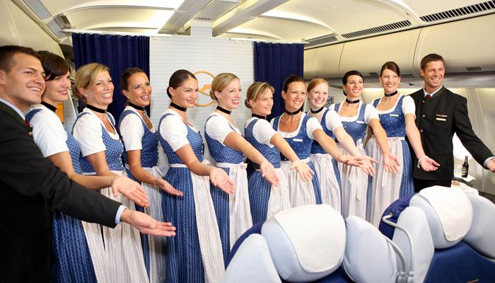 Lufthansa - Tracht-Flug 2008