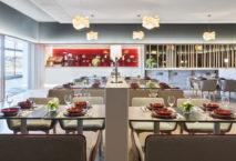 Das Restaurant in Iberias Velázquez Premium-Lounge in Madrid. Foto: Iberia