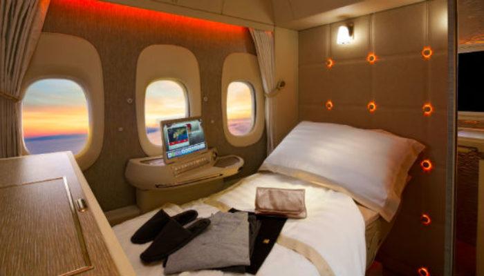 Die neue First Class in der B777 von Emirates. Foto: Emirates
